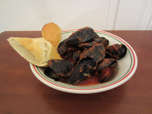 zesty steamed mussels
